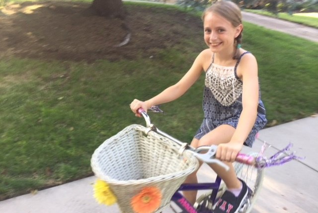 """I really like riding a bike because when you ride a bike you feel like you're free."" -Maeve"