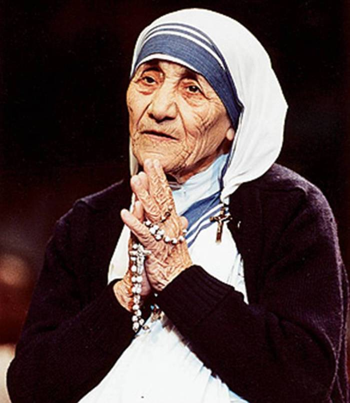 """Let no one come to you without leaving better and happier."" -St. Teresa"